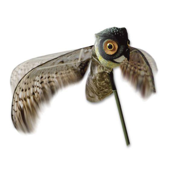 Dangate lokkeugle med bevægelige vinger