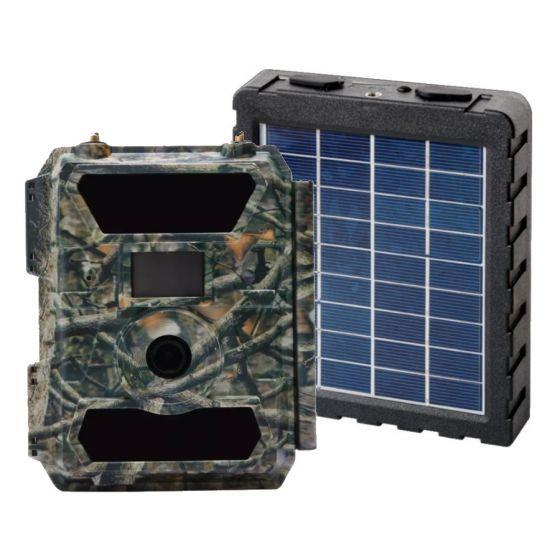 Hunter 4G 12 megapixel vildtkamera med solcellepanel/powerbank og MMS