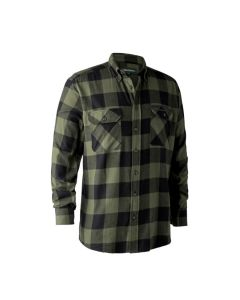Deerhunter Marvin skjorte Green Check bomuld