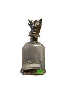 Dramflaske med prop af vildsvin