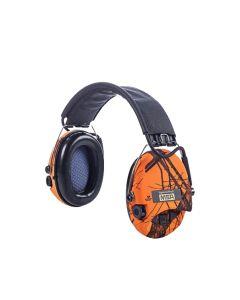 MSA Sordin Supreme Pro-X LED elektroniske høreværn orange camouflage