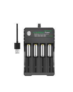 Nieload oplader til 4 stk. batterier