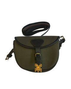 TMN Trading patrontaske i kanvas og læder grøn