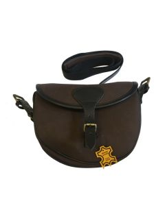TMN Trading patrontaske i kanvas og læder brun